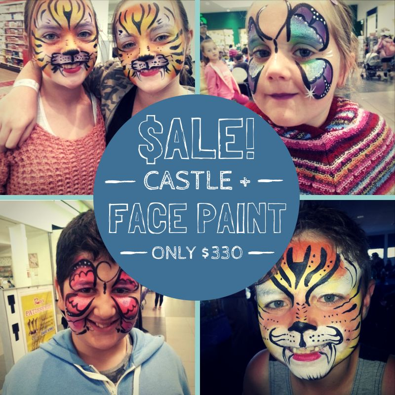 You'll love our 123 Jumping Castles + Face Paint Value Deal!