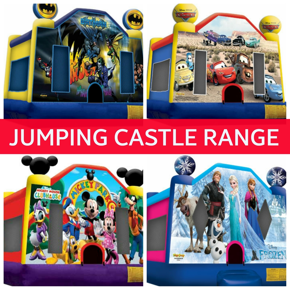 CLICK ABOVE IMAGE TO VIEW ALL 123 MEDIUM SIZE JUMPING CASTLES
