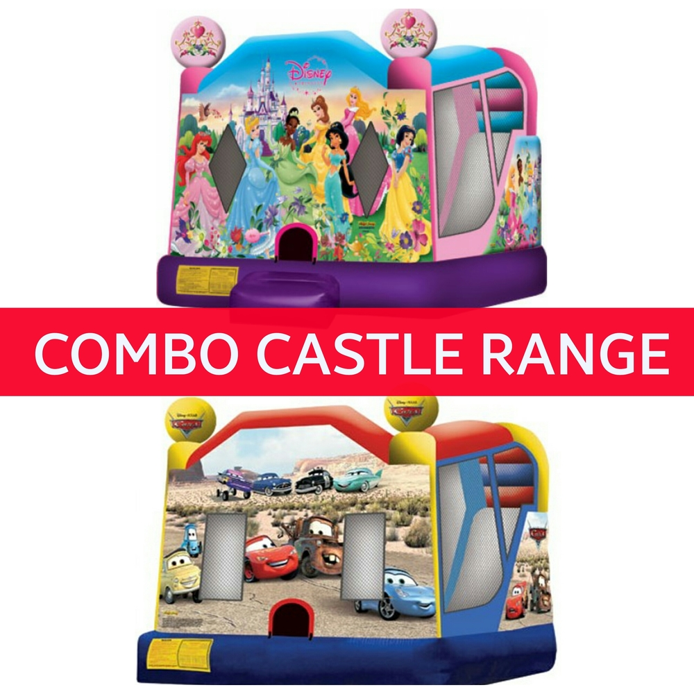 CLICK ABOVE IMAGE FOR ALL 123 COMBO JUMPING CASTLES