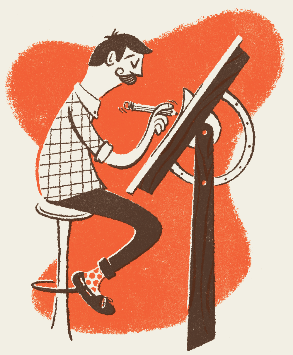 - I'm currently working full-time as a freelancer from my studio in Lansing, Michigan. I'm an illustrator driven by a nostalgic curiosity around typography & illustration. Through my work, I hope to re-inspire that childhood sense of wonder that still lives inside of all of us and to make the world a friendlier place.*Represented by Closer&Closer