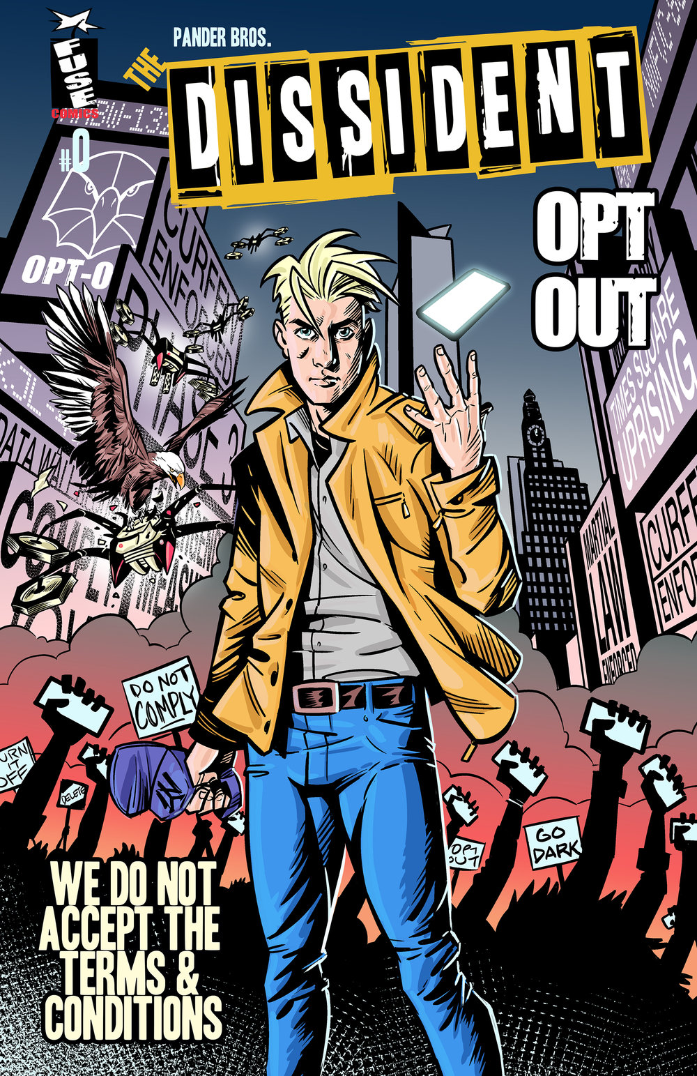 The DISSIDENT: Opt Out - (Variant Cover)  - Art by Pander Bros.
