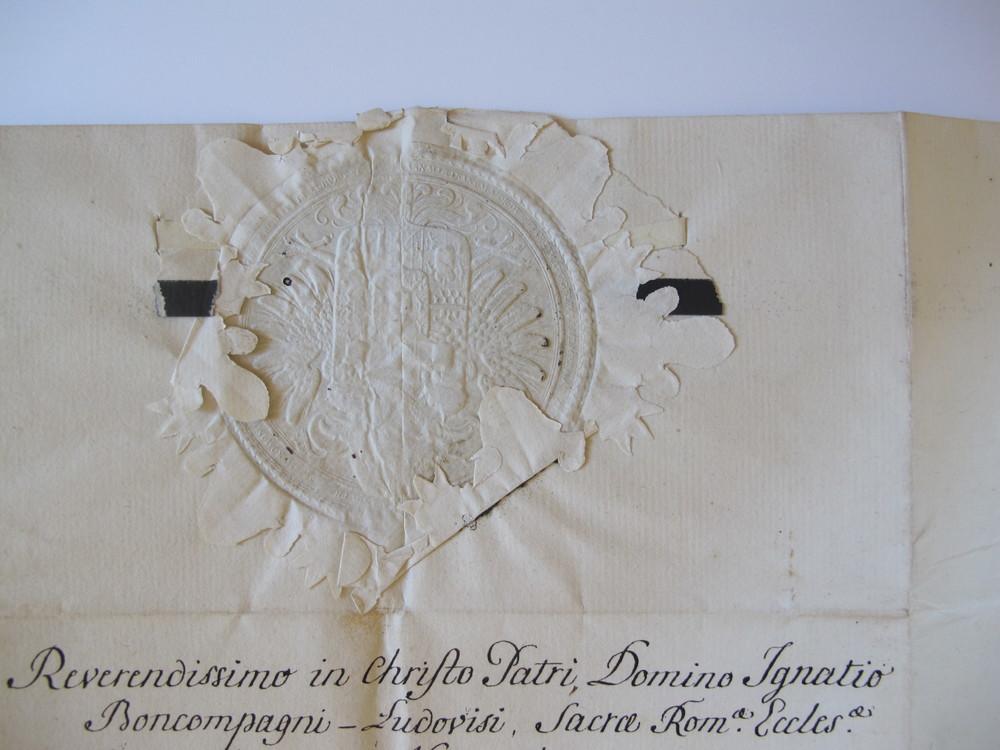 1775. Empress Maria Theresa to Cardinal Boncompagni Ludovisi. Austria.