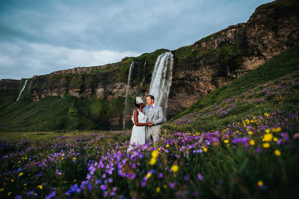 seljalandsfoss Iceland elopement/wedding