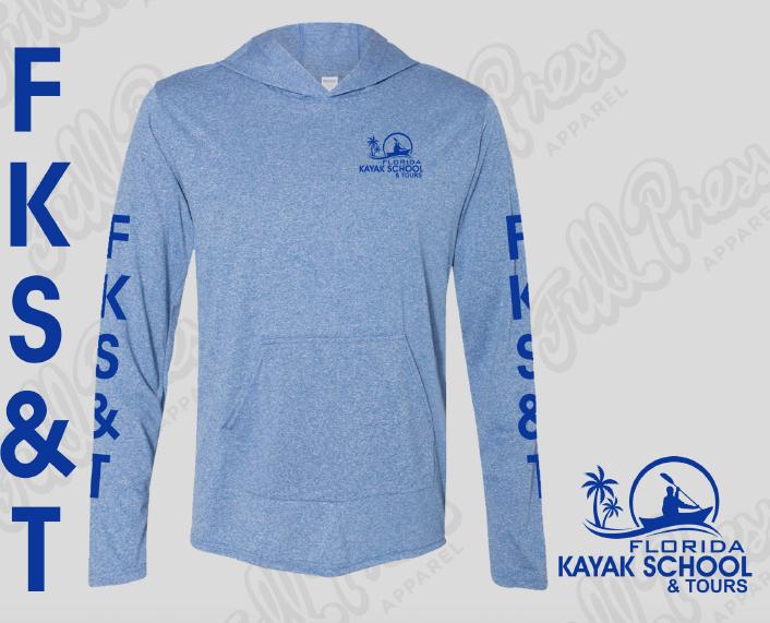 FKS&T, Ultra lightweight, sun protection hoodie $32.50 sales@FloridaKayakSchool.com; 850.445.3236