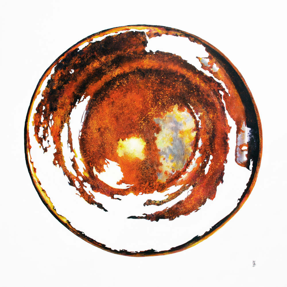 Rusty tin lid