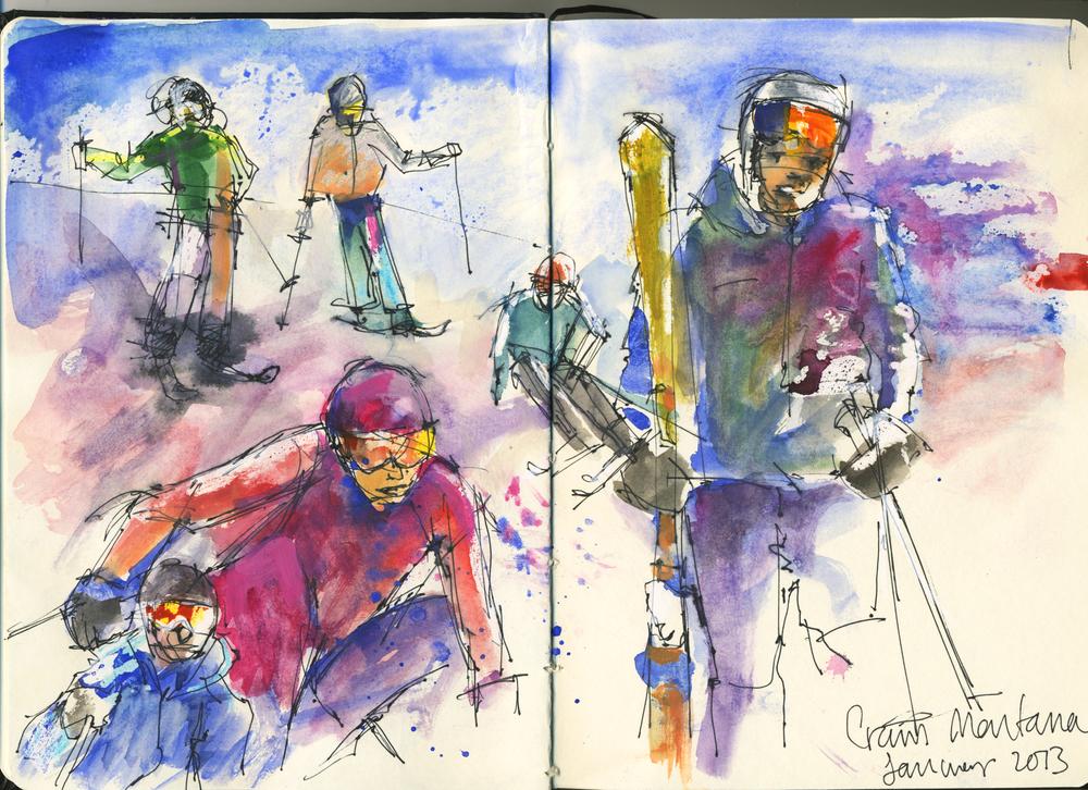 Skiing Crans Montana 2013