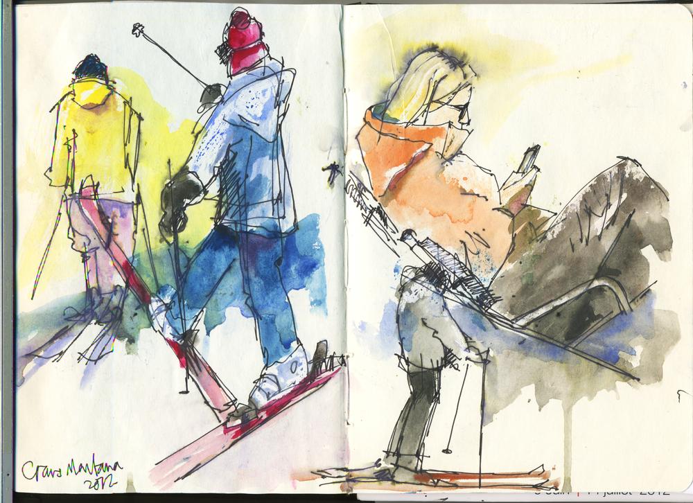 Skiing Crans Montana 2012