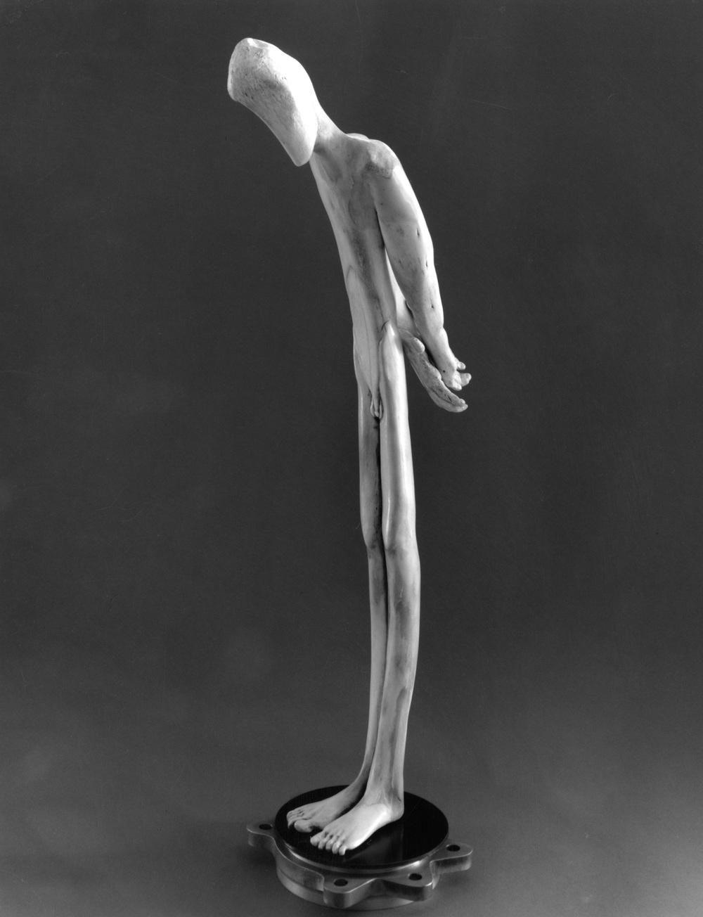 Contemplation (Man Standing) by Jerry Hardin | BoneSculpture.com
