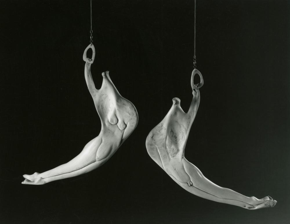 Acrobats I - Bone Sculpture by Jerry Hardin