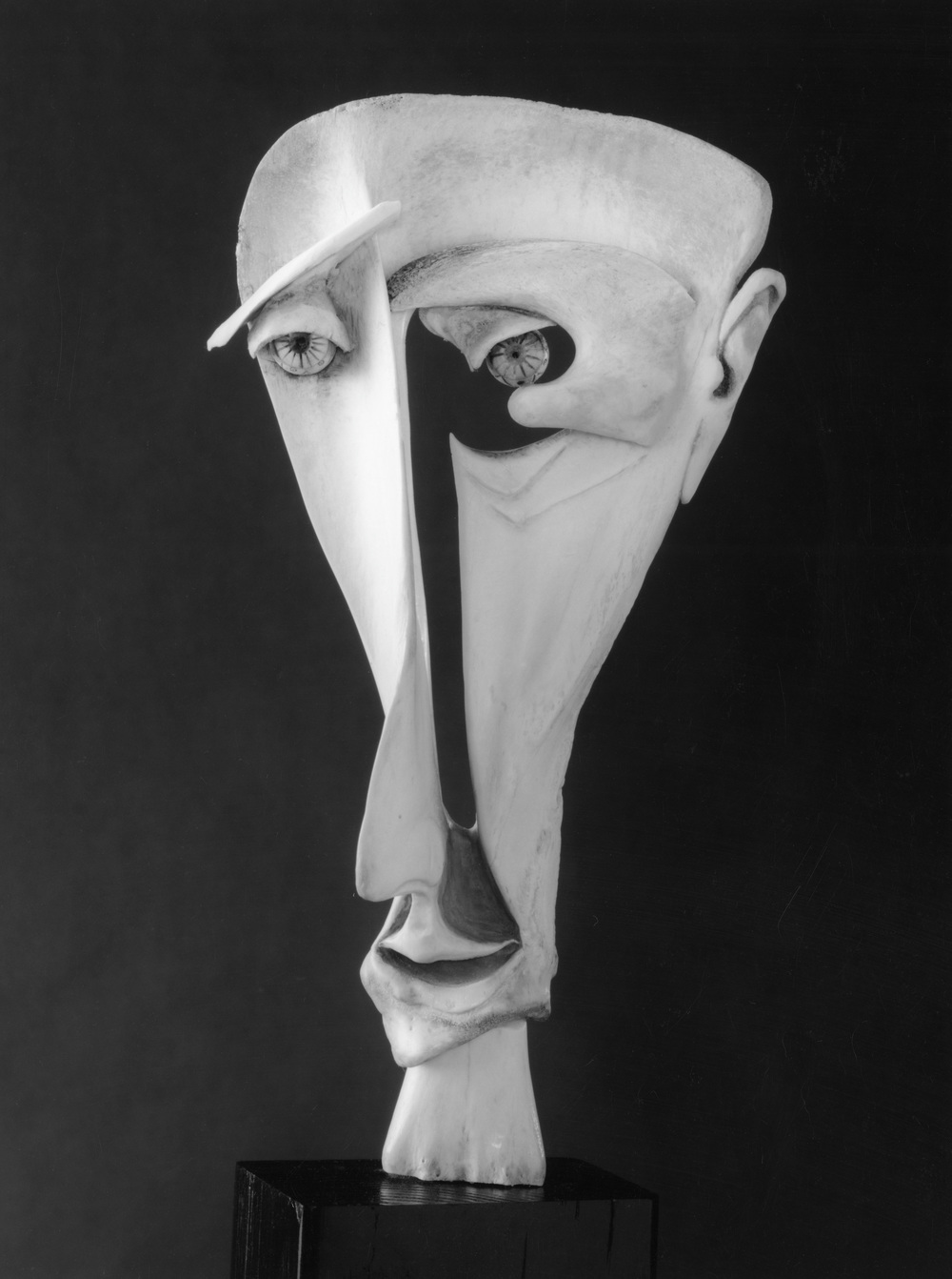 Face - Bone Sculpture by Jerry Hardin