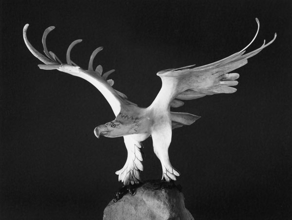 Eagle - Bone Sculpture by Jerry Hardin