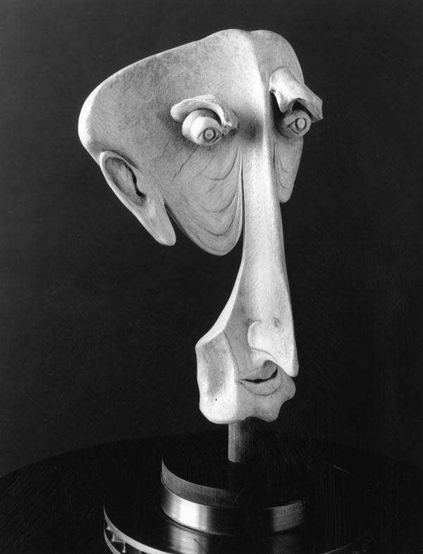 Baldy - Bone Sculpture by Jerry Hardin
