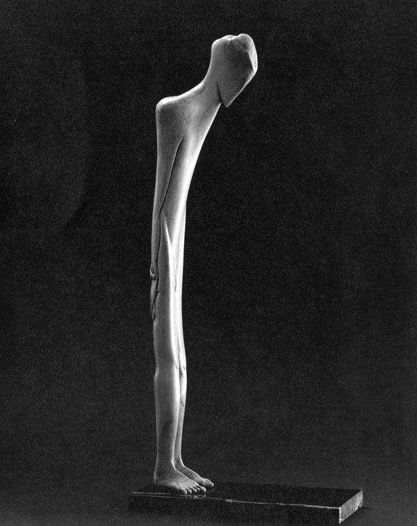 Man Alone - Bone Sculpture by Jerry Hardin