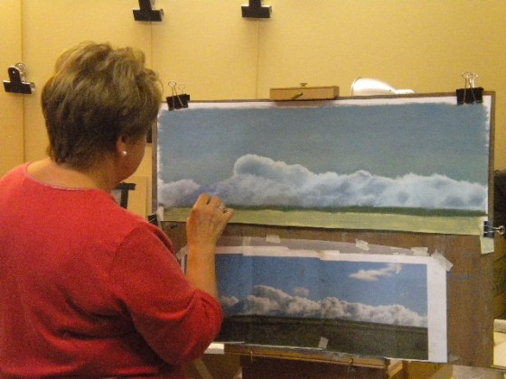 Lorraine's cloud horizon--rolling thunder!
