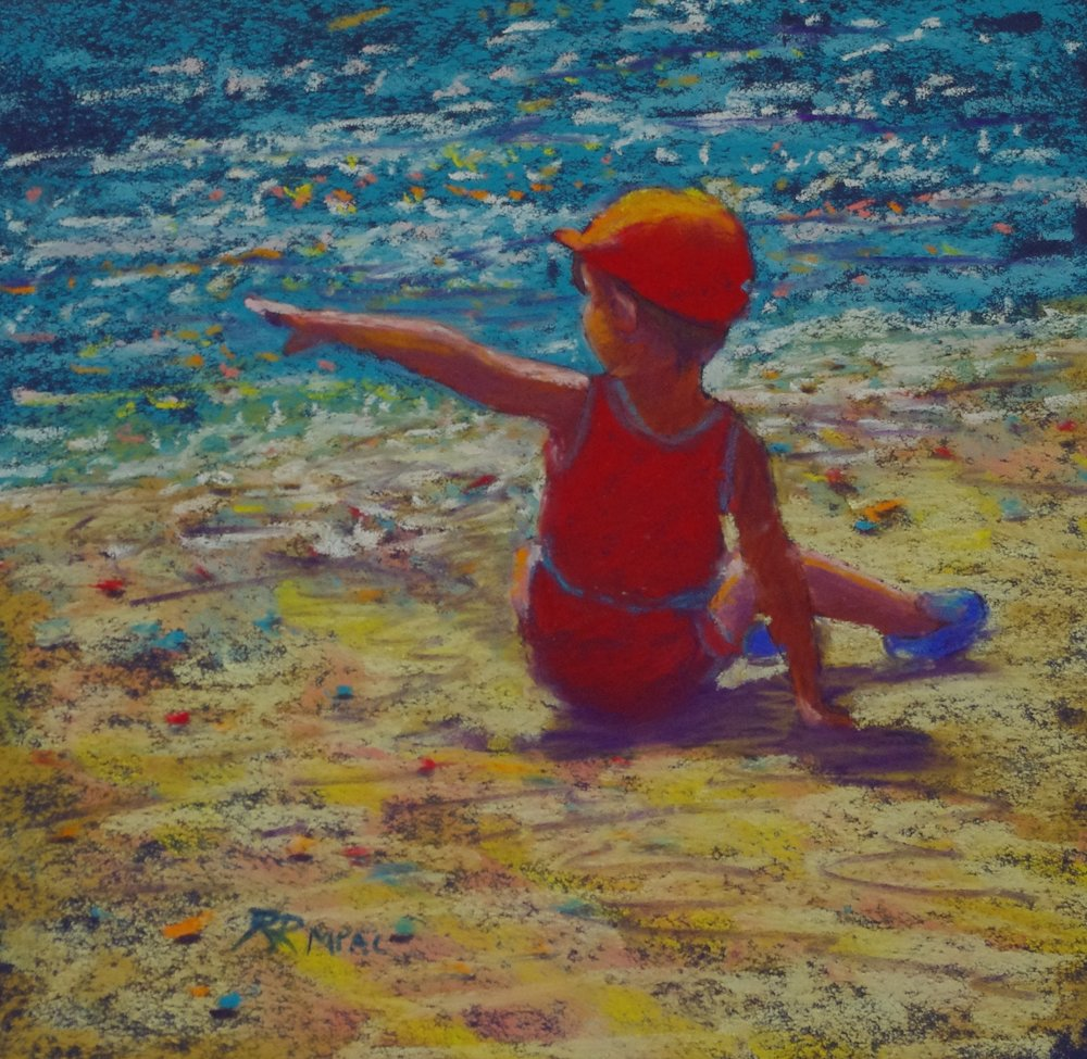 Days of Wonder pastel 8 x 8 framed $195