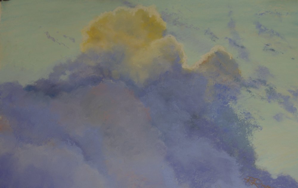 Cloud Study  pastel on sanded paper 13.5 x 20.5 unframed $250