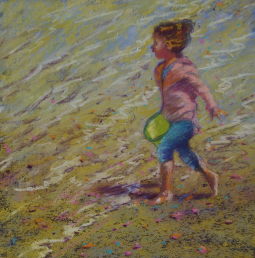 Bucket Brigade ; the original painting can be seen in the offices of Dr. Brian Nelson, ophthalmologist, in Sechelt, BC.