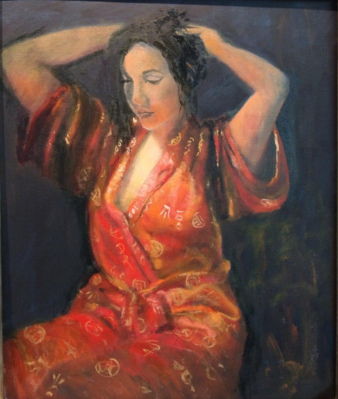 Glowing Light (Tashina #2) Oil on canvas 24 x 20 framed $800
