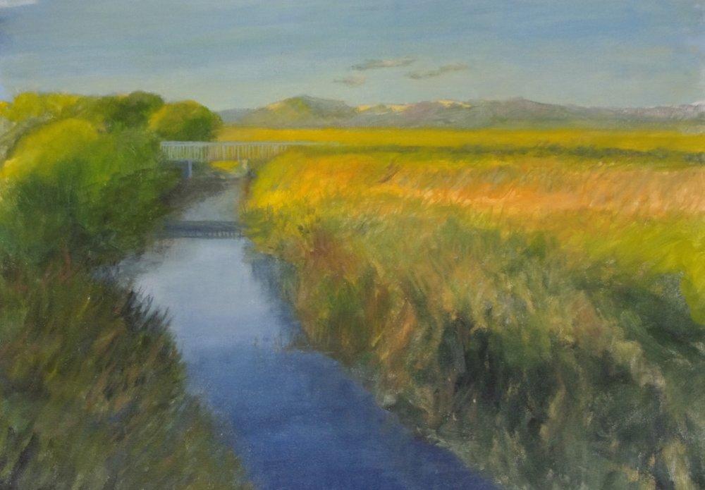 Over the Idaburn  oil on canvas 18 x 24 $950