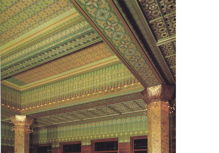 Reconstruction of the Louis Sullivan stock exchange trading room, 1976, Art Institute of Chicago. Vinci/Kenny Architects.