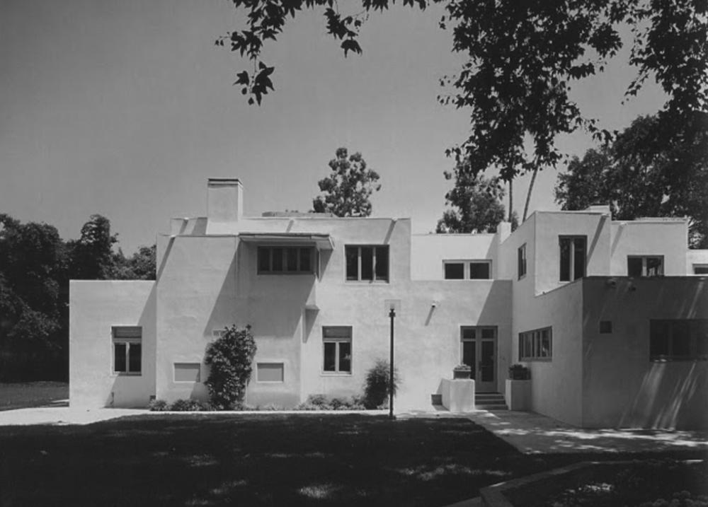 Clarke House, 1919-1921, Santa Fe Springs, California. Irving Gill, architect.