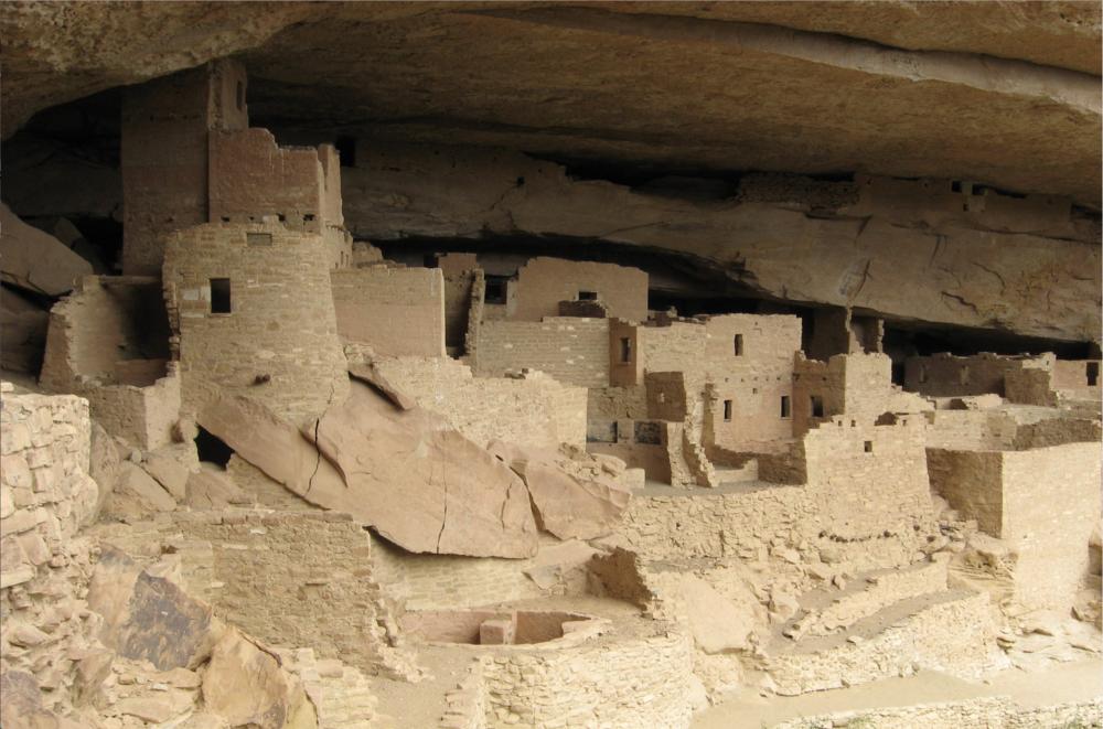 Gila River cliff dwellings, 1275-1300, near Silver City, New Mexico. Mogollon culture.
