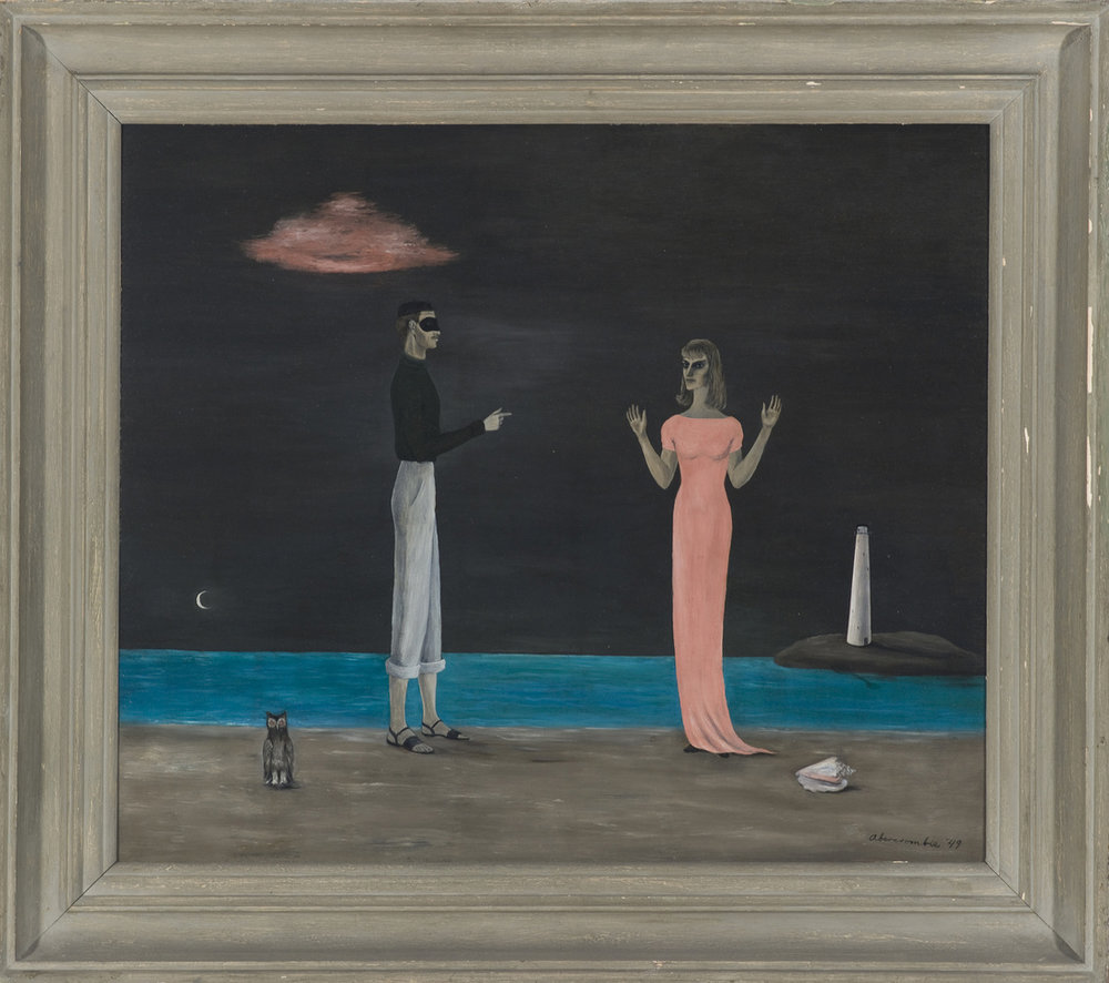 Gertrude Abercrombie,  The Courtship , 1949, Collection Museum of Contemporary Art Chicago, Photo: Nathan Keay, © MCA Chicago