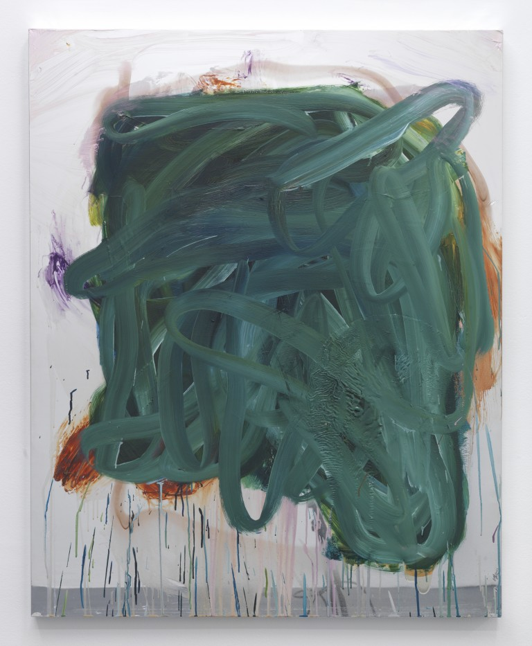 Peter Bonde,  Fear of Reflection (Medusa's Head) , 2014, oil on mirror-foil, 39.37 x 31.5 inches