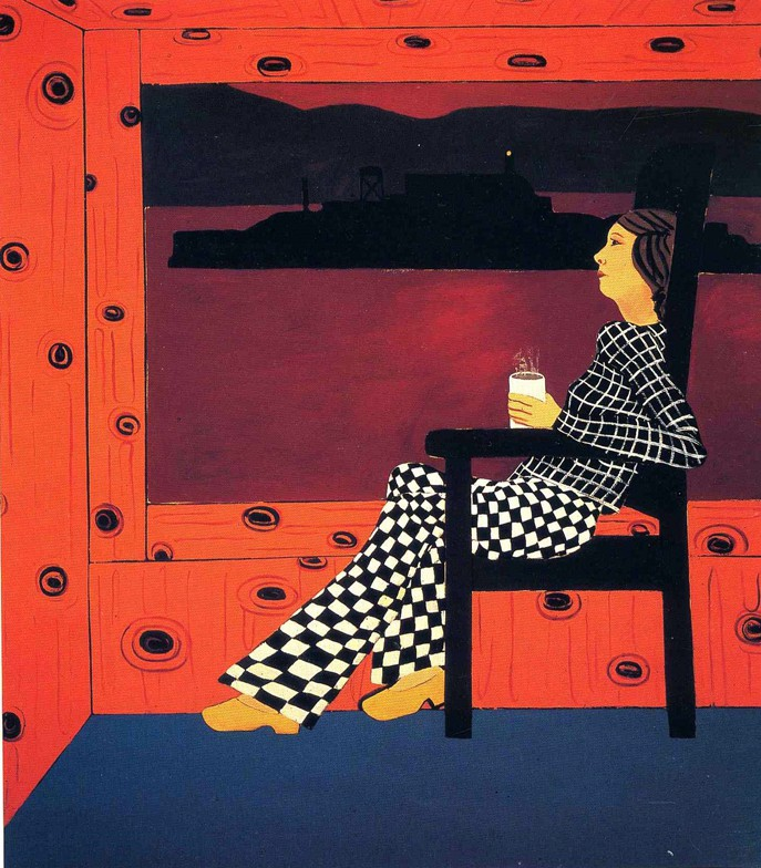 Joan Brown,  Night Before the Alcatraz Swim , 1975