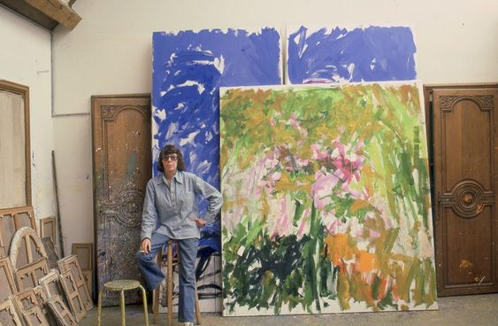 Joan Mitchell in her Vetheuil studio, 1983