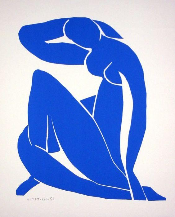 Henri Matisse,  Nu Bleu II , 1952