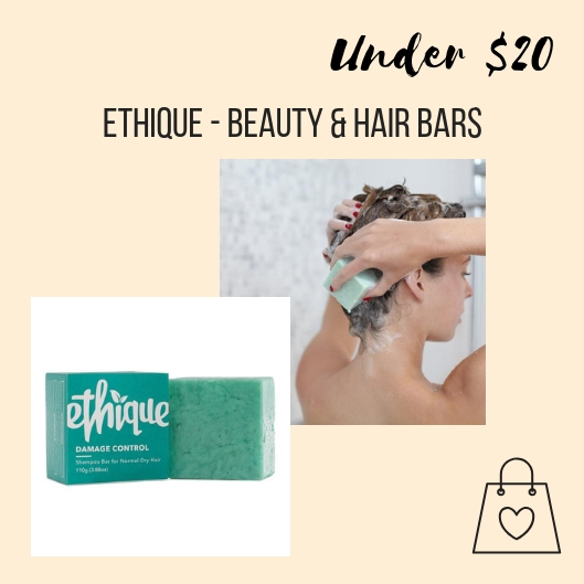 In my journey to eliminate single-use plastic from my home, my friend Katie introduced me to Ethique beauty bars. They have shampoo & conditioner bars, for many different hair needs, that come in plastic-free packaging. They also sell an in-shower storage container to help dry your bar after each use and prolong the life of your bar. Each bar is equivalent to 3 regular bottles of liquid shampoo.