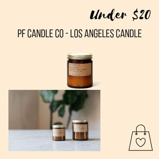 I've been a big fan of PF Candle Co every since I met them at the Unique Camp way back when. I'm crazy about the Los Angeles soy candle because it smells like a LA summer night.