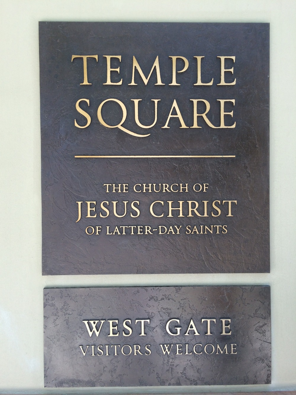 Temple Square, West Gate,  Salt Lake City