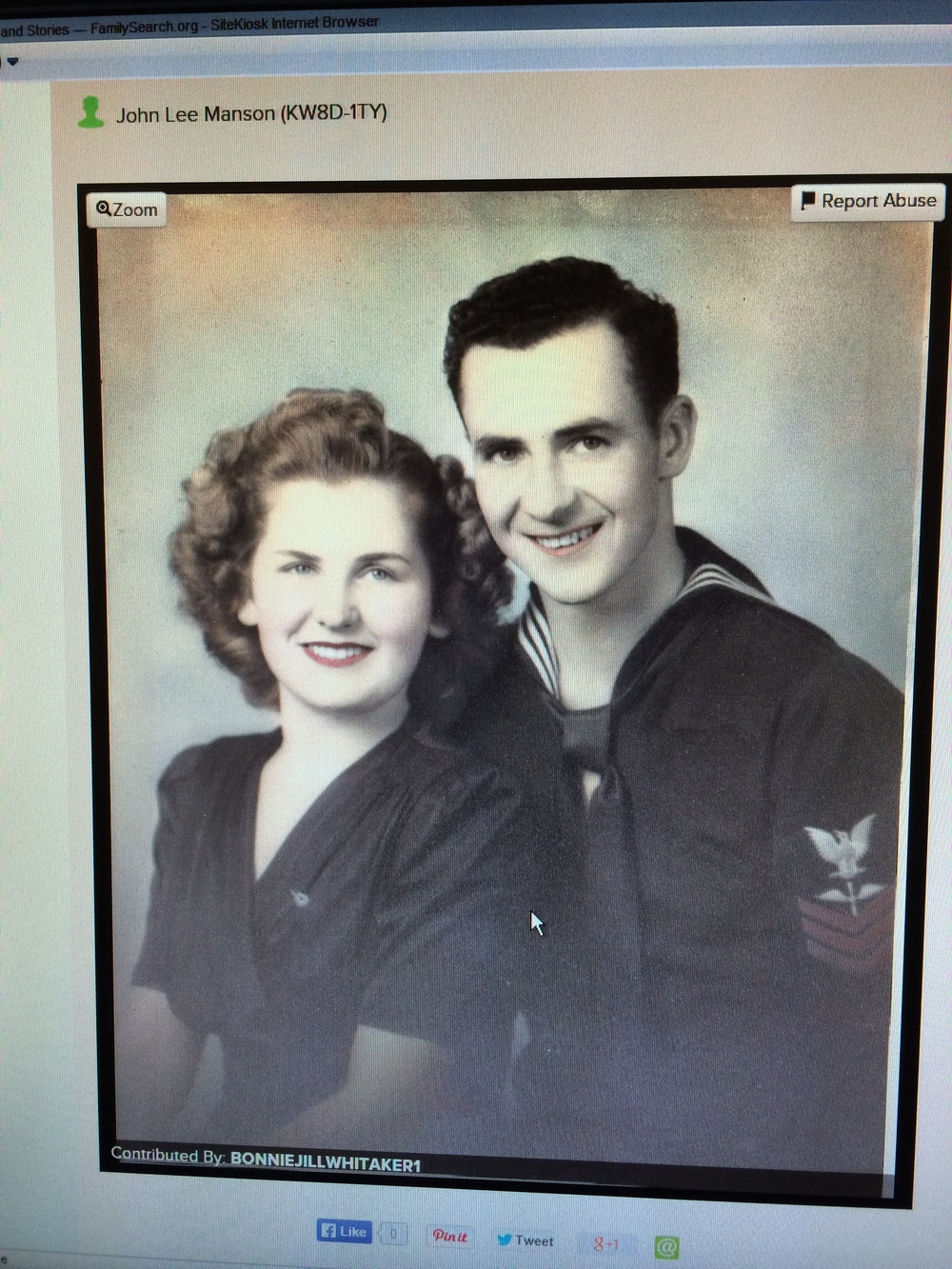 John was an Airplane Mechanic in the Navy and June was Miss Bellingham.