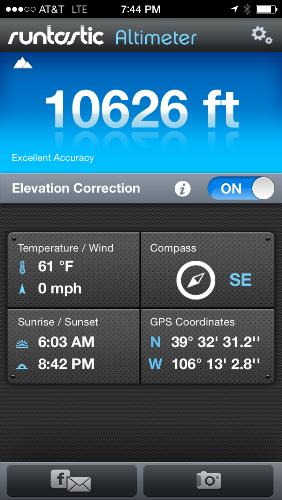 Elevation Screenshot