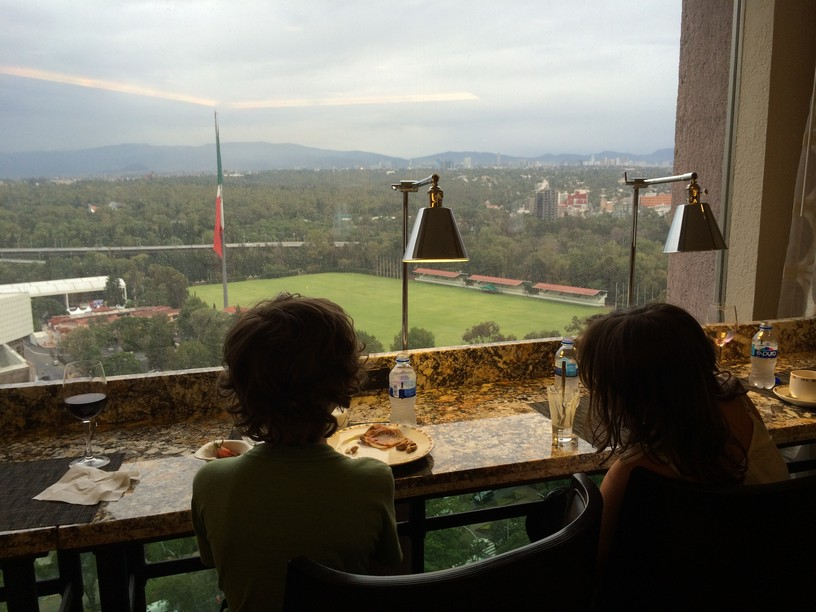 Mexico City JW Marriott Concierge Lounge View