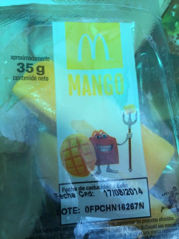 Mangos at McDonald's in Mexico City Zoo