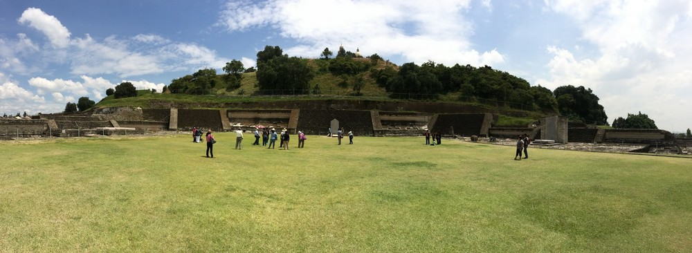 The big lawn at Cholula