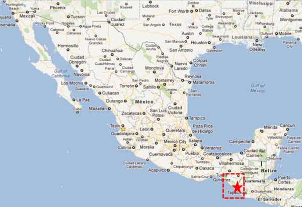 Almost into Guatemala....Tapachula is one of the farthest points South in Mexico