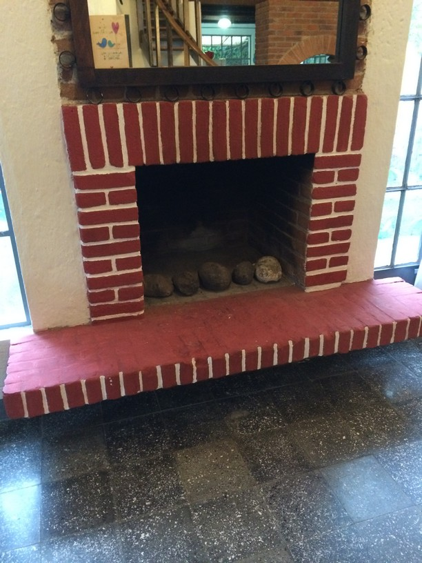 the fireplace we've never used