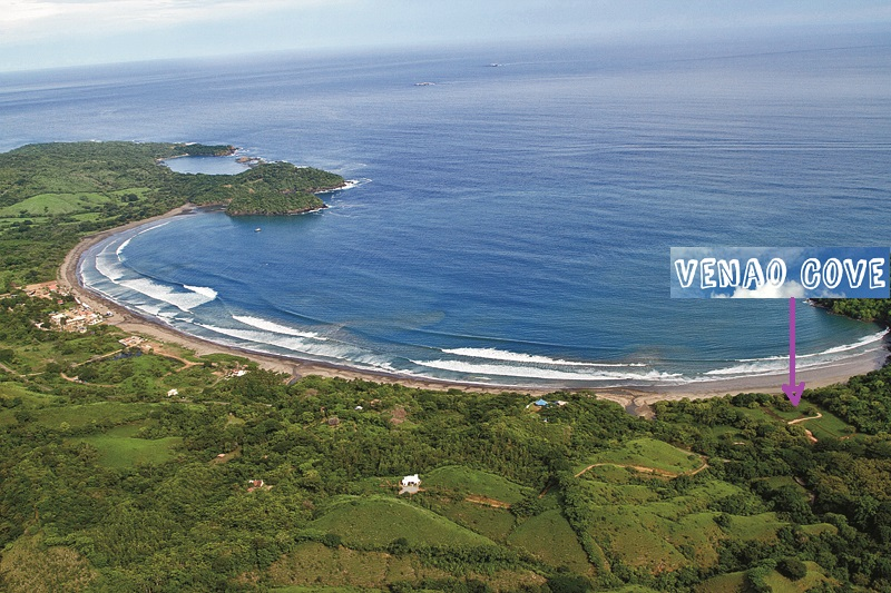 Arial shot of Venao Cove