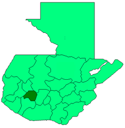 Department of Solola represented in dark green.