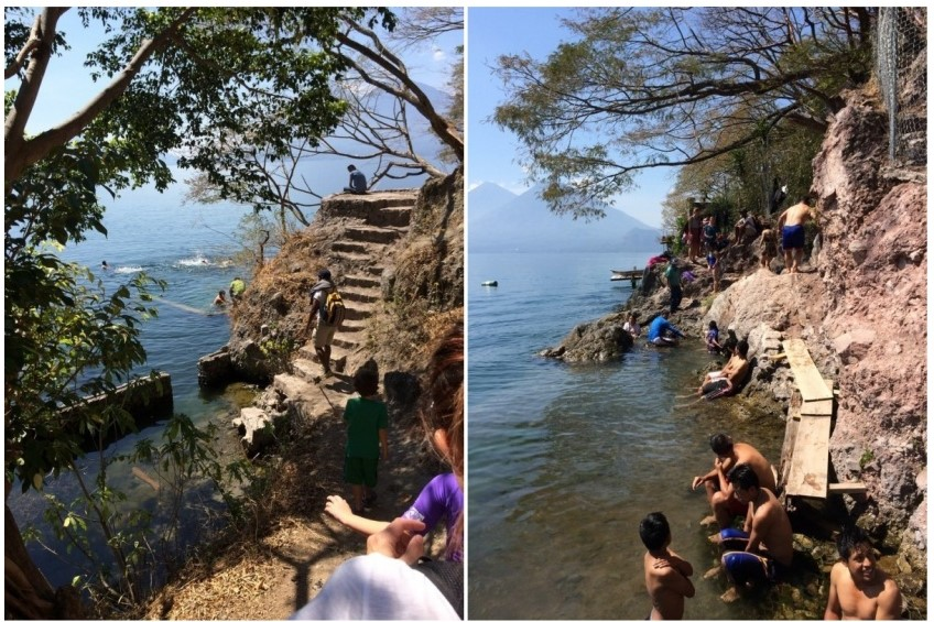 There was probably a 12-15 people when we got there and the section of the lake with the springs is small so it was a bit crowded on the shoreline..