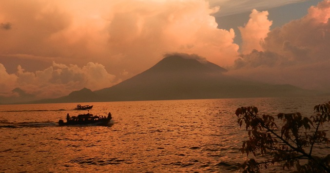 Sunset at Lake Atitlan
