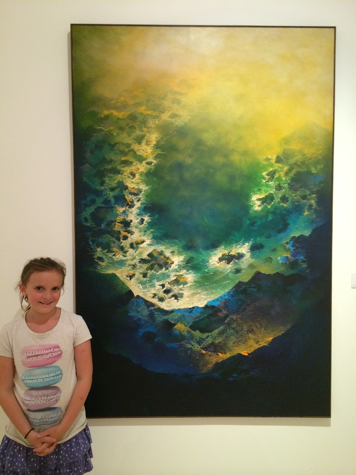 En este mar, by Mauricio Linares  (1966)   - Ela and I both decided this was our favorite painting in the whole museum. We went back to look at it a couple of times.