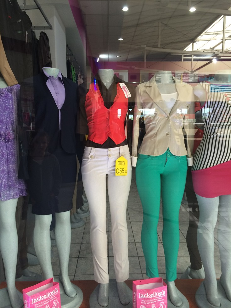 Here are some of the latest fashions at the mall! Seriously.