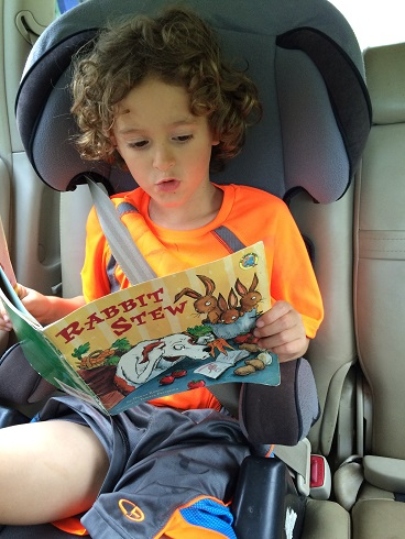 This book will definitely be in the back seat for next drive. It's another of his favorites that he now reads to himself.    Thanks reading this post! If you enjoyed it please consider clicking one of the Share buttons to the left!