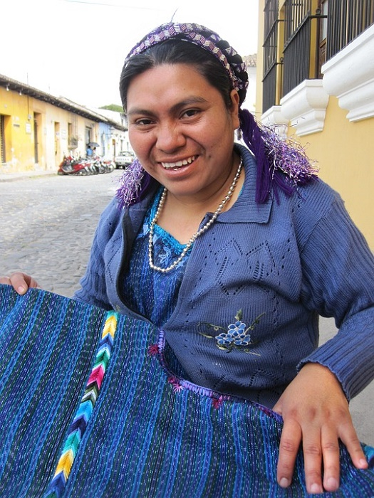 Each Mayan village has its own, distinct woven pattern and style as its traje. After having lived in Central America for 18 months, we can now identify the origin of some traje. There's a better pic of the museum located here.