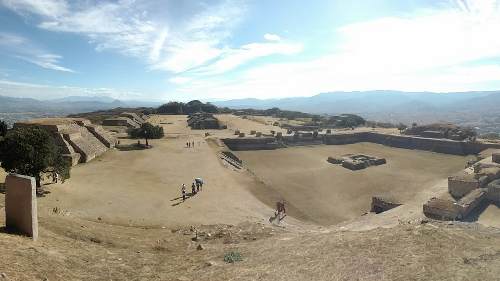 Panoramic view of Monte Alban